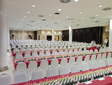 El ajedrez sala de competición