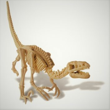 dinosaurio montado