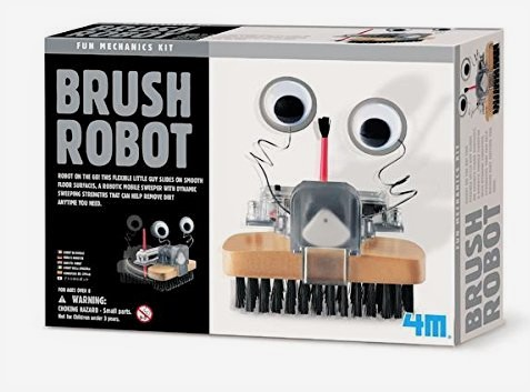 Robótica niños - Robot cepillo con ojos