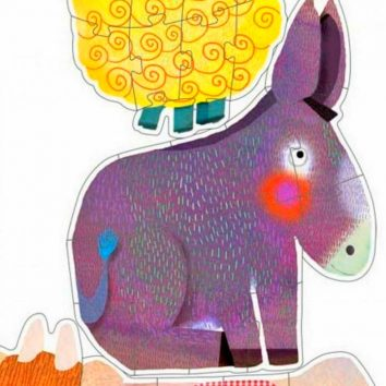 Puzzle gigante evolutivo Diente de león y amigos DJECO