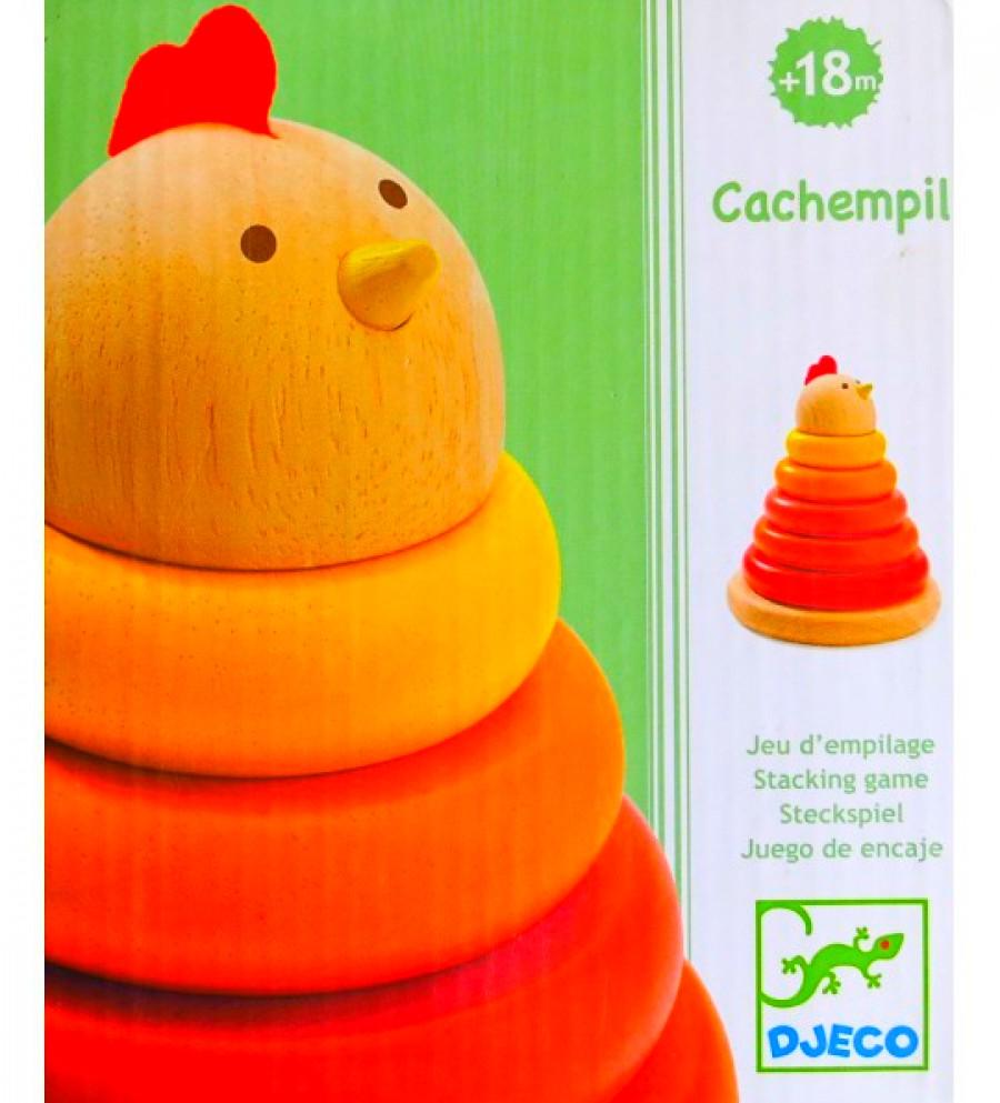 Encajable madera gallina cachempil - Djeco