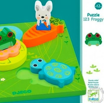 Encajable 1 2 3 Froggy DJECO