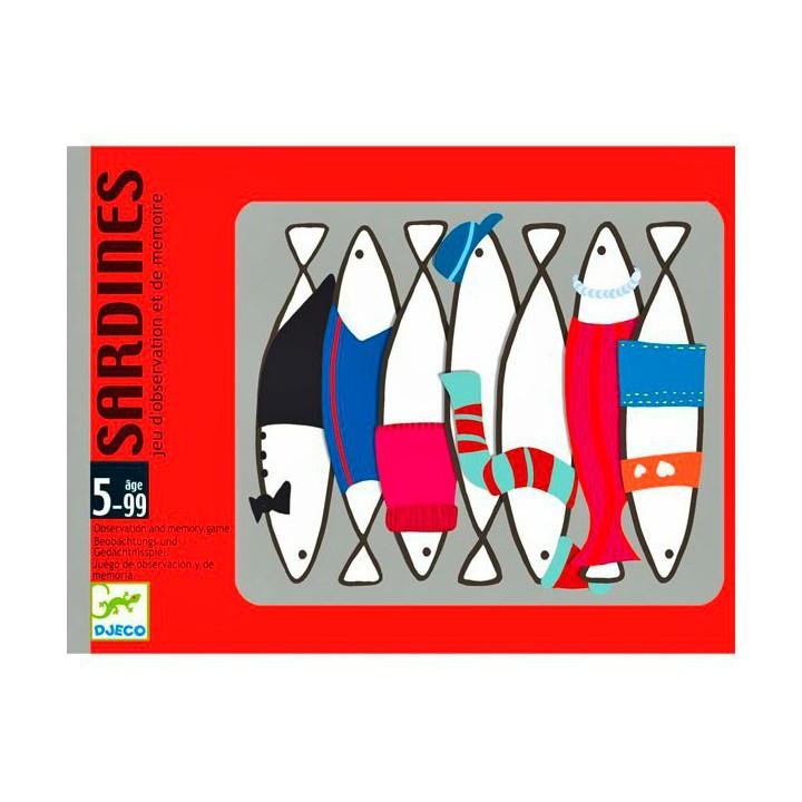 Juego cartas sardinas Djeco