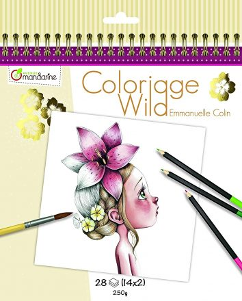 Cuaderno para colorear Coloriage Wild de Avenue Mandarine