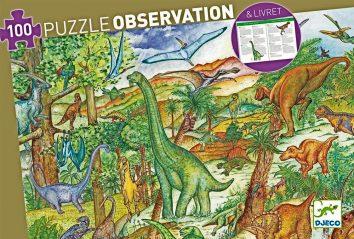 Puzle de observación dinosaurios Djeco