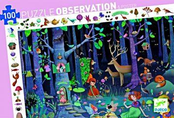 Puzle de Observación El Bosque Encantado de Djeco