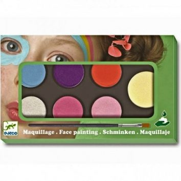 Estuche de maquillaje seis colores dulces de Djeco
