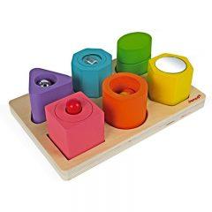 Puzle de seis cubos sensoriales de Janod