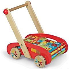Carrito andador de madera ABC BUGGY TATOO de Janod