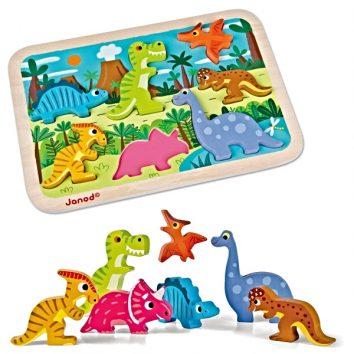 Puzle encajable Dinosaurios Chunky de Janod