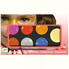 Estuche de maquillaje seis colores efecto purpurina de Djeco