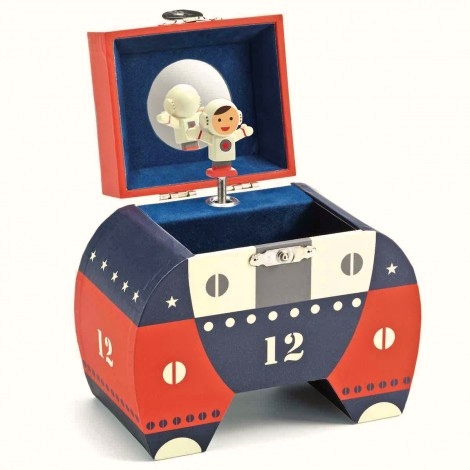 Caja de música Cohete espacial Polo 12 de Djeco
