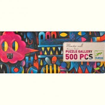 Puzzle Gallery Monster Wall 500 piezas de Djeco