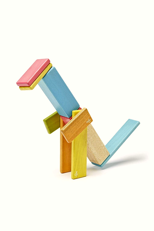 Tegu - Bloques de madera magnéticos Tints 14 piezas