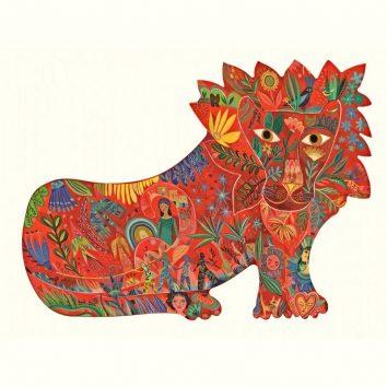 Puzzle art 150 piezas leon djeco