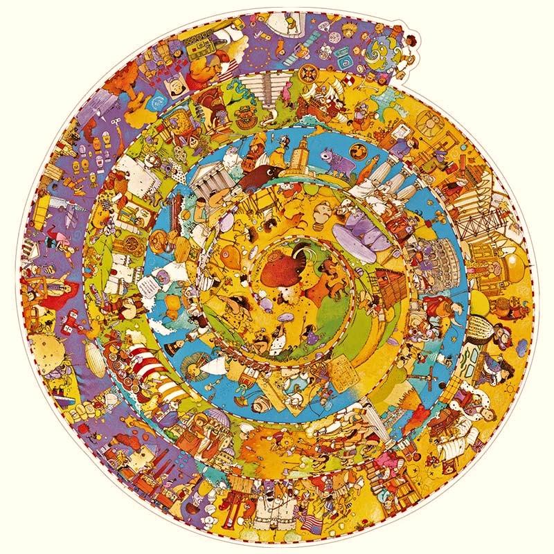 Puzzle Historia Observation 350 piezas Djeco