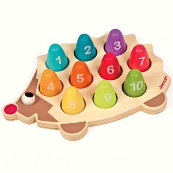 Erizo de madera aprende números de Janod