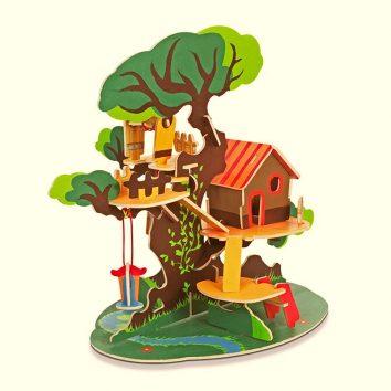 Petit architecte cabaña entre árboles