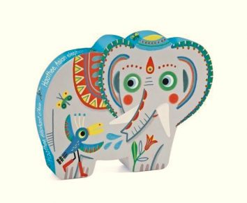 Puzle silueta elefante de Djeco