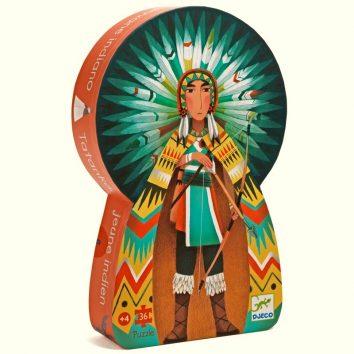 Puzle silueta Tatanka joven indio de Djeco