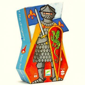 Puzle Silueta El Caballero Medieval de Djeco