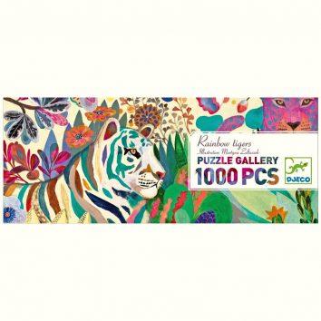 Puzzle galeria rainbow tigres 1000 piezas