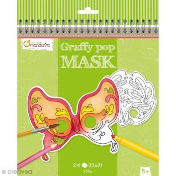 Cuaderno de máscaras para colorear Venecia