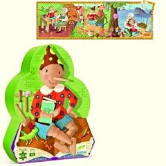 Puzle silueta Pinocho de Djeco