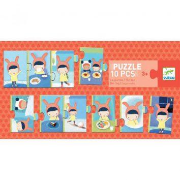Puzzle jornada 10 piezas Djeco
