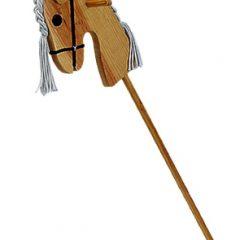 MORA Caballo escoba de madera 87 cm de largo