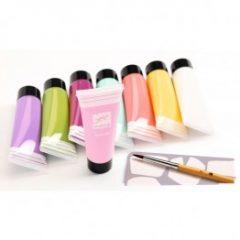 8 tubos témpera tonos pastel