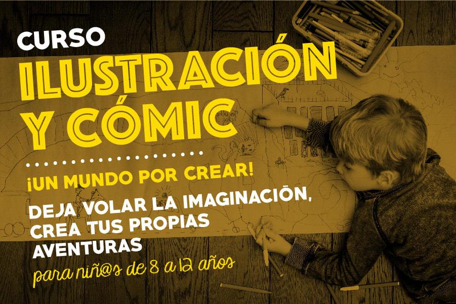 CUrso de ilustración y comic para niños en getxo y bilbao
