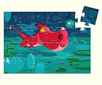 Puzzle Silueta Edmond el Dragón Djeco