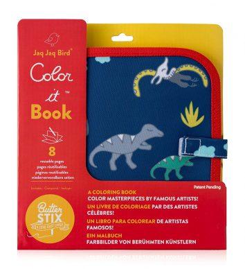 Libro pizarra colorear Dinosaurios Jaq jaq bird