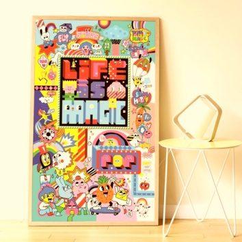 "Gran póster de pegatinas ""Street Art"" POPPIK"