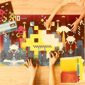 """Gran póster de pegatinas """"videojuego"""" POPPIK"""