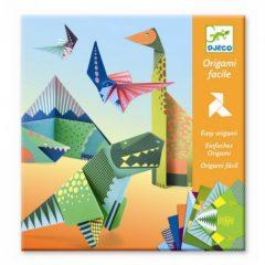 Papiroflexia origami dinosaurios djeco