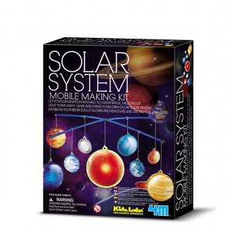 Móvil brillante sistema solar