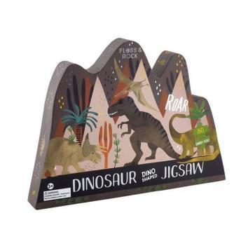 Puzzle dinosaur dino shaped