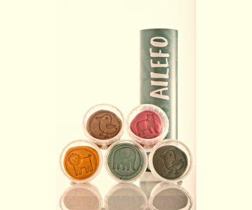Tubo plastilina orgánica Ailefo 5 colores 100 gr