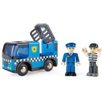 Coche de policia con sirena de luz y sonido