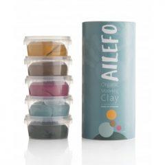 Tubo plastilina orgánica Ailefo 5 colores 160 gr