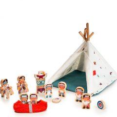 tribu de indios y tipi Lilliputiens
