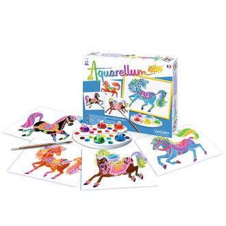 Aquarellum junior caballos
