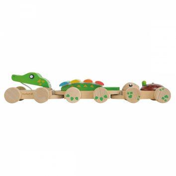 Tirador cocodrilo madera