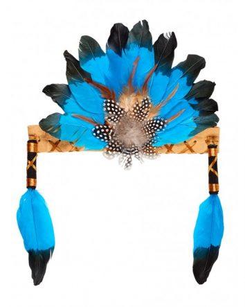 Penacho indio Leyati azul/negro