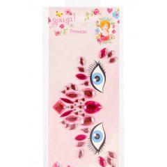 Stickers para la cara princesa rosa