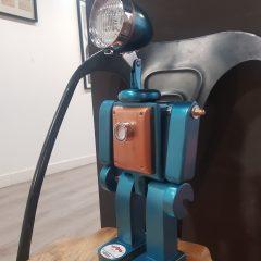 Lámpara robot azul