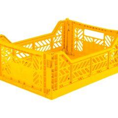 Caja Lillemor plegable mediana yellow