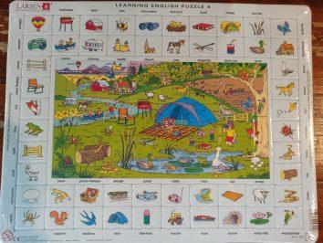 Puzzle aprende inglés Montaña